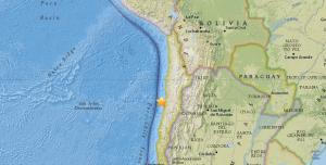 Sismo de magnitud 5,5 afecta el norte de Chile