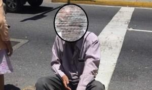 Abuelo es golpeado por vehículo durante protesta de pensionados en Chacaíto #1Sep
