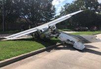 Avioneta se estrella en Texas contra autos tras colisionar con cables de alta tensión (Fotos)