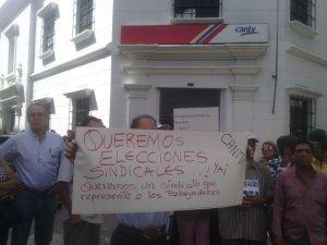 Jubilados de Cantv en Mérida exigen elecciones sindicales #20Sep