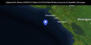 Sismo de magnitud 4 sacude el Pacífico de Nicaragua sin dejar víctimas ni daños