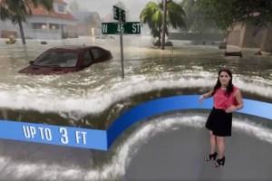 Se hace viral esta aterradora simulación de cómo se verá el Huracán Florence (Video)