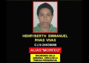 Detienen a Henryberth Rivas presunto implicado en los hechos de la avenida Bolívar