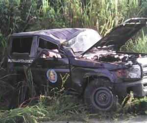 Se volcó patrulla del Sebin que trasladaba al personal de seguridad de los periodistas deportados desde Paraguachón