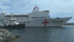 EN VIDEO: La llegada del buque hospital chino al puerto de La Guaira #22Sep