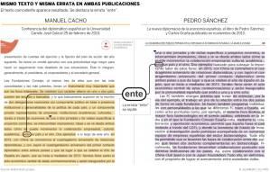 El libro de Pedro Sánchez y Carlos Ocaña copia párrafos de la conferencia de un diplomático
