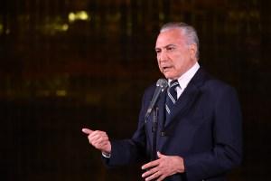 Temer anuncia intervención federal de Roraima, estado fronterizo con Venezuela