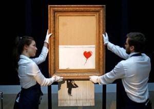 Banksy afirma que su cuadro se debería haber destruido totalmente pero el sistema falló