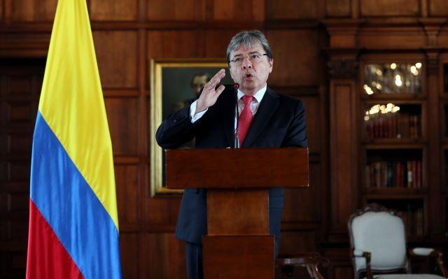 Así recibió el canciller colombiano a Guaidó en el megaconcierto #VenezuelaAidLive (Foto)