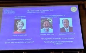Nobel de Química a Frances H. Arnold, George P. Smith y Gregory P. Winter