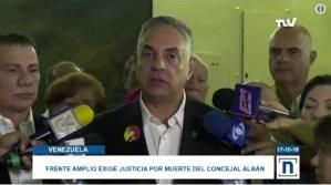 Frente Amplio protestará este #18Oct en todas las fiscalías del país por muerte de Fernando Albán