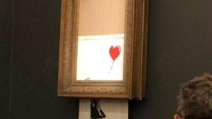 Así preparó Banksy la autodestrucción de su cuadro (video)