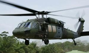Mueren cuatro militares colombianos al accidentarse helicóptero Black Hawk