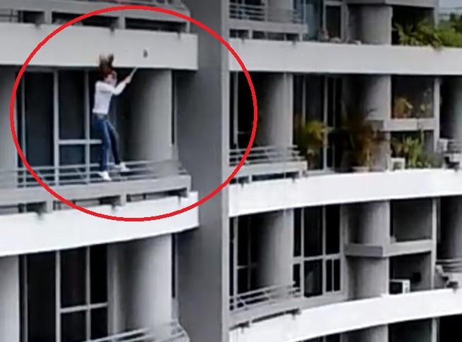 ¡Susto! Mujer pierde la vida en Panamá tras caer desde un piso 27 mientras se tomaba una selfie (Video)