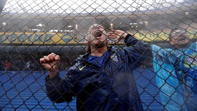 Las mejores fotos del diluvio que obligó a la postergación de la Superfinal entre Boca y River