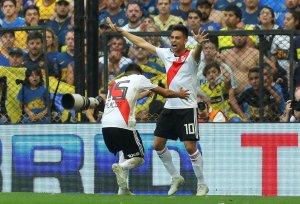 Así llegan los jugadores de River Plate para enfrentar a Boca Juniors en Madrid