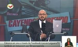 Pérez Pirela anuncia Cayendo y Corriendo sale del aire (Video)