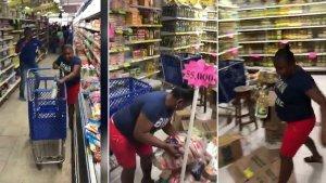 Viral: Mujer perdió media vida durante un concurso del minuto gratis de mercado en Colombia (Video)