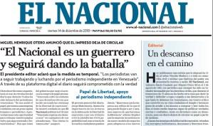75 años después, la rotativa de El Nacional se apagó