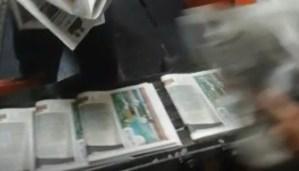 Así se imprimió la última edición de El Nacional (Video)