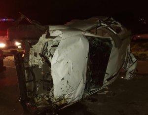 Saquearon la camioneta de José Castillo y Luis Valbuena después del accidente (Foto)