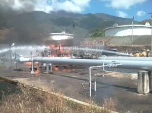 Incendio en el llenadero de Pdvsa en Guatire no cesa, según reportes de habitantes #13Dic