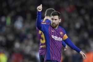Messi consigue nueva cifra récord en victoria del Barcelona