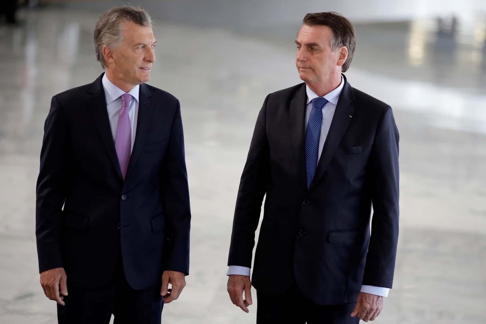 Macri y Bolsonaro condenan al régimen de Maduro