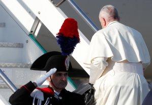 El papa Francisco parte rumbo a Panamá