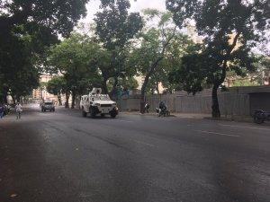 """La """"fauna"""" represora da vueltas en la plaza Madariaga de El Paraíso #23Ene (Foto)"""