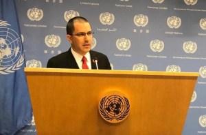 """Arreaza denunció en la ONU un """"intento de golpe de Estado de EEUU a Venezuela"""""""