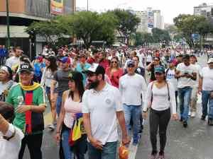 11:00 am Miles de manifestantes toman la avenida Francisco de Miranda en rechazo a la usurpación de Maduro (Fotos) #23Ene