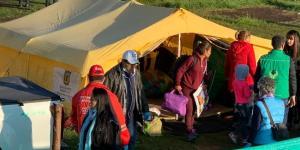 Comienzan a desmontar el campamento humanitario de venezolanos en Bogotá