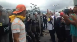 ¡Qué se unan! gritan los manifestantes a la PNB #23Ene (video)