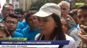 María Corina Machado: La lucha no es para que Maduro cambie, es para que Maduro salga