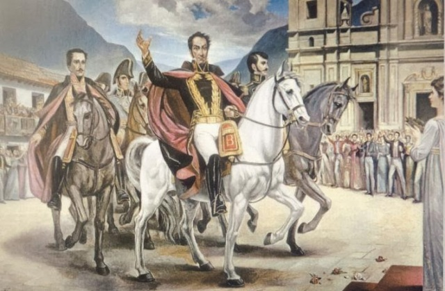 El #TBT de Simón Bolívar, presidente interino y trae fuerzas extranjeras para lograr la libertad (Proclama)