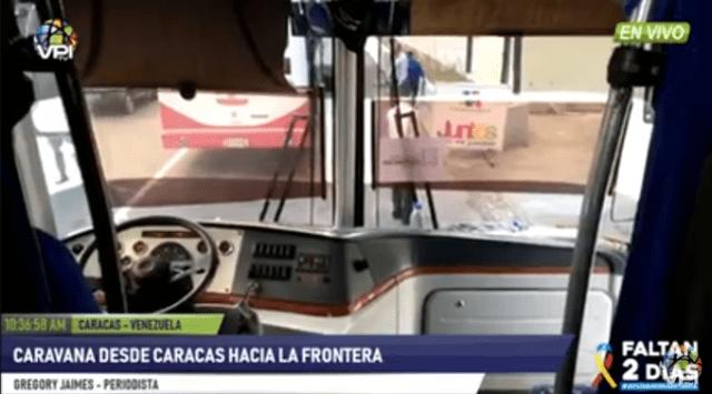 GNB detuvo en Tazón los autobuses donde se trasladan diputados hacia Cúcuta (FOTO)