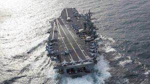 EEUU desplegó un portaaviones nuclear y otros seis barcos en medio de la crisis venezolana
