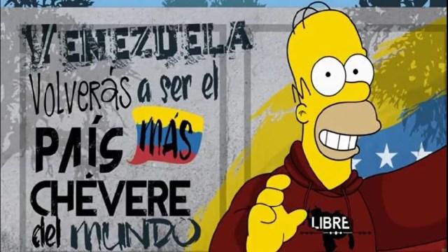 D'oh! Hasta Homero Simpson no quiere a Maduro e invita a todos al Venezuela Aid Live