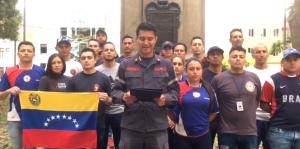Bomberos venezolanos exiliados en Perú reiteran su apoyo a Juan Guaidó