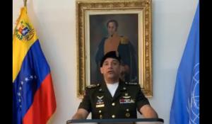 Agregado militar de Venezuela ante la ONU reconoce a Guaidó como presidente encargado (Video)
