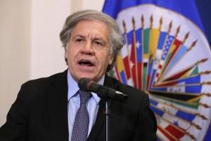 Almagro solicita más sanciones y eventual uso de la fuerza contra el régimen de Maduro