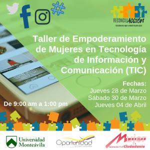 Mujer y Ciudadanía, Oportunidad a.c junto a la Universidad Monteávila formarán a 100 mujeres en TIC