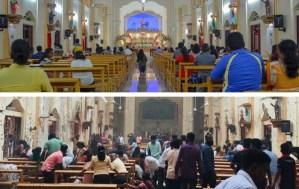 El antes y después de una de las iglesias cristianas donde ocurrió un atentado en Sri Lanka (FOTOS)