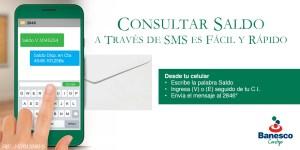 Banesco activa consulta de saldo por SMS