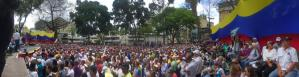 La FOTO: Esta increíble panorámica muestra el llenazo en la plaza Bolívar de Chacao para el cabildo abierto