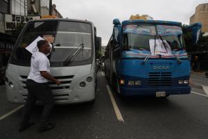 Transporte público se paralizó en Aragua