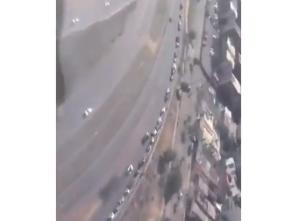 En Videos: Las MEGA colas en Bolívar por escasez de gasolina visibles desde las alturas #18May