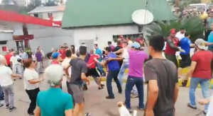 Se armó el zaperoco en una gasolinera de Táchira #22May (VIDEO)