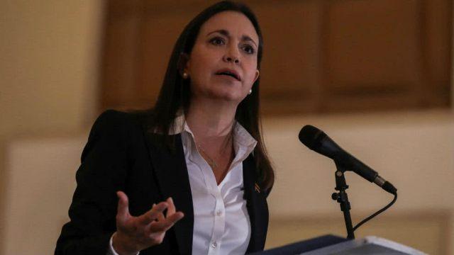 María Corina Machado pide una coalición internacional para derrocar a Maduro. Foto cortesía.